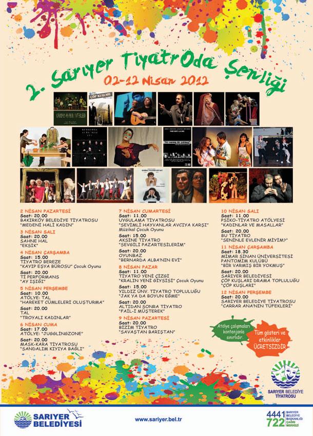 2. Sarıyer TiyatrOda Şenliği 2 Nisan'da Başlıyor 73