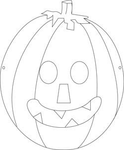 Cadılar Bayramı - Kabak Kafa Maskesi