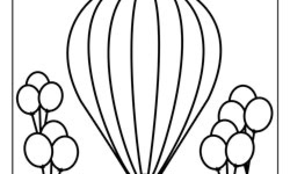 Balonlar Boyama Kağıdı Cicicee