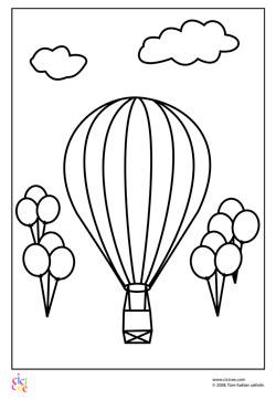 Balonlar Boyama Kagidi Cicicee