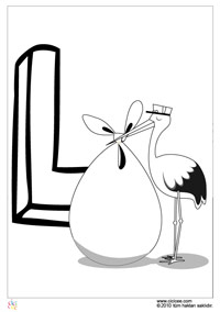 ücretsiz Yazdırılabilir L Harfi Boyama Sayfası Yazdırılabilir