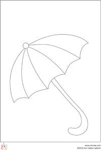 şemsiye Boyama Sayfası Cicicee