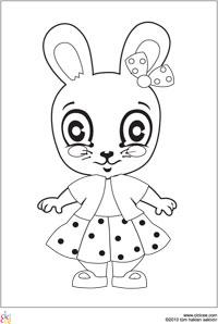 Kız Tavşan Boyama Cicicee