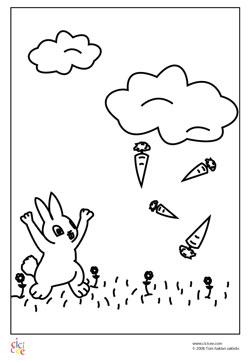 Tavşan Boyama Kağıdı Cicicee