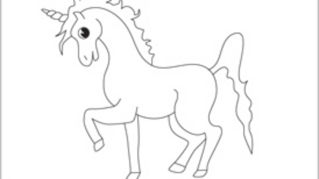 Tek Boynuzlu At Boyama Sayfası Cicicee