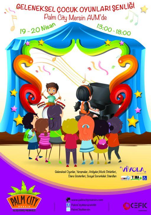 Geleneksel Çocuk Oyunları Şenliği ve Milano Sirki Palm City Mersin AVM'de 81