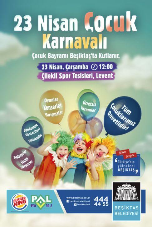 Beşiktaş Belediyesi 23 Nisan Çocuk Karnavalı
