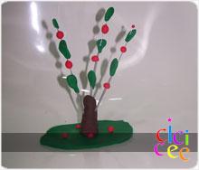 Oyun Hamurundan Elma Ağacı Yapımı