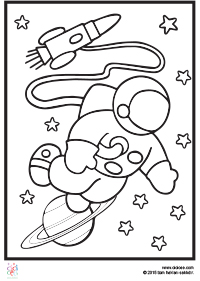 Astronot Boyama Sayfaları Cicicee
