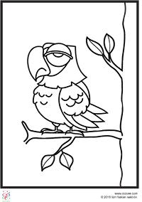 Baykuş Boyama Sayfaları Cicicee