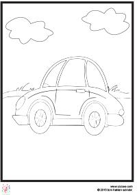 şirin Araba Boyama çocuklar Için Boyama Sayfaları Cicicee