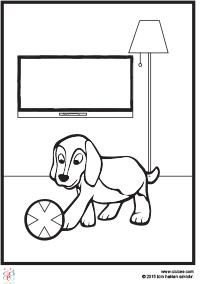 Köpekli Ev Boyama çocuklar Için Boyama Sayfaları Cicicee