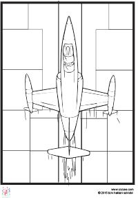 Hızlı Uçak Boyama çocuklar Için Boyama Sayfaları Cicicee