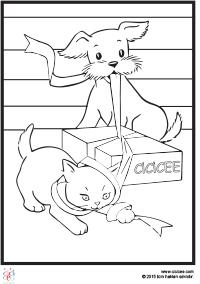 Kedi Köpek Boyama çocuklar Için Boyama Sayfaları Cicicee
