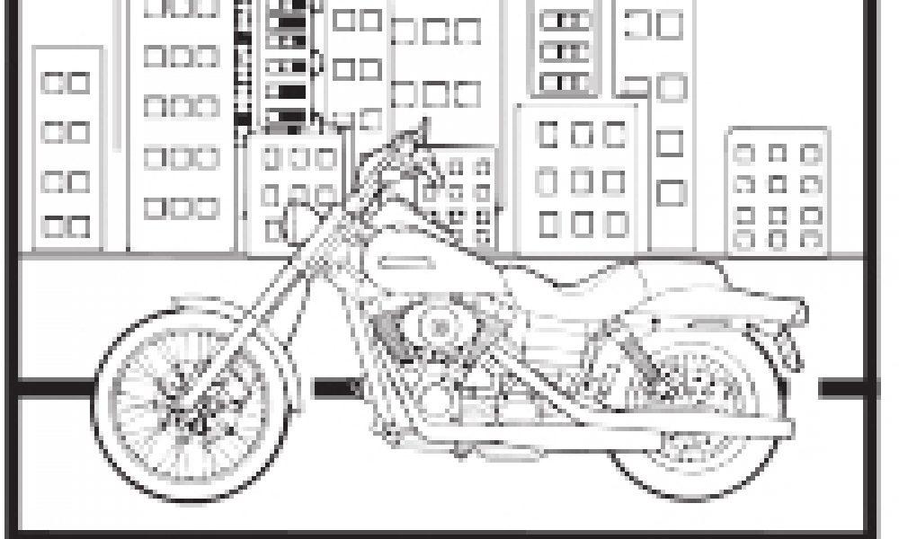 Motorsiklet Boyama çocuklar Için Boyama Sayfaları Cicicee
