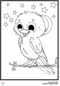 Sevimli Kuş Boyama çocuklar Için Boyama Sayfaları Cicicee