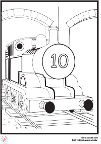 Tren Boyama Cocuklar Icin Boyama Sayfalari Cicicee