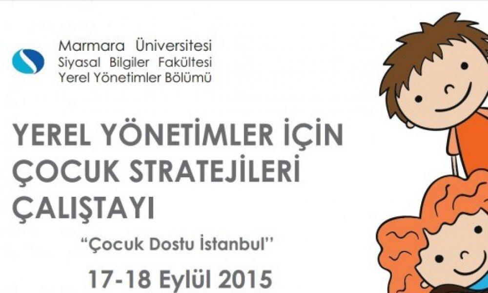 Yerel Çocuk Stratejileri Çalıştayı Eylül'de Yapılacak 33