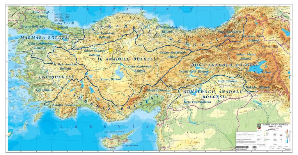 Türkiye Fiziki Haritası Cicicee