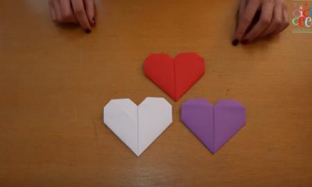Origamiden Kalp Yapma