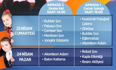 Ankara Armada AVM 23 Nisan Etkinlikleri