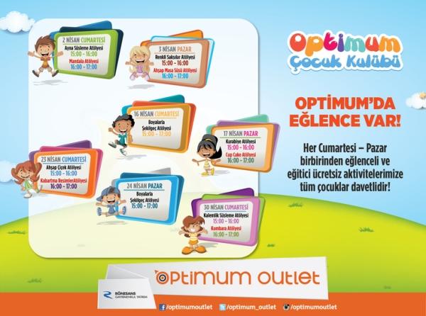 Optimum Outlet'te Çocuklar için Tatil Atölyeleri