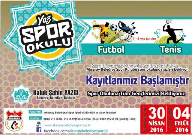 Aksaray Yaz Spor Okulları