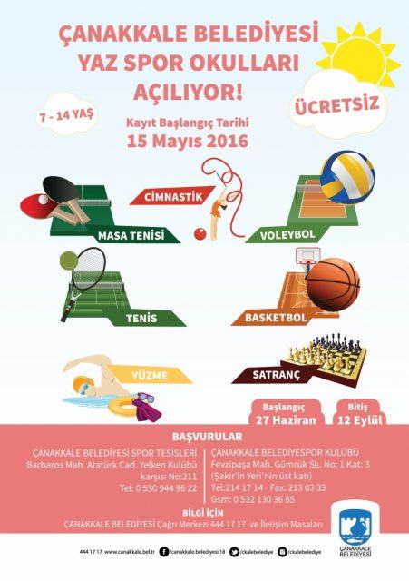 Çanakkale Yaz Spor Okulları