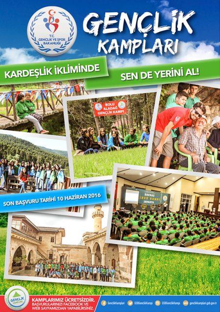 Gençlik ve Spor Bakanlığı Ücretsiz Gençlik Kampları 2016