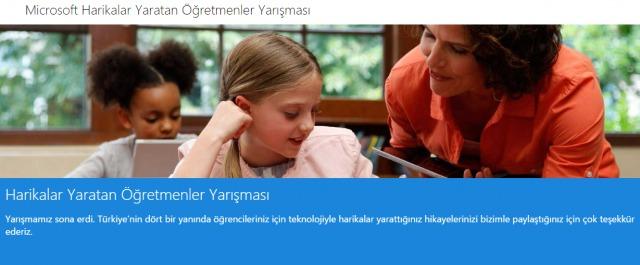 Microsoft Harikalar Yaratan Öğretmenler yarışması