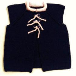 bağcıklı bebek örgü yelek modelleri