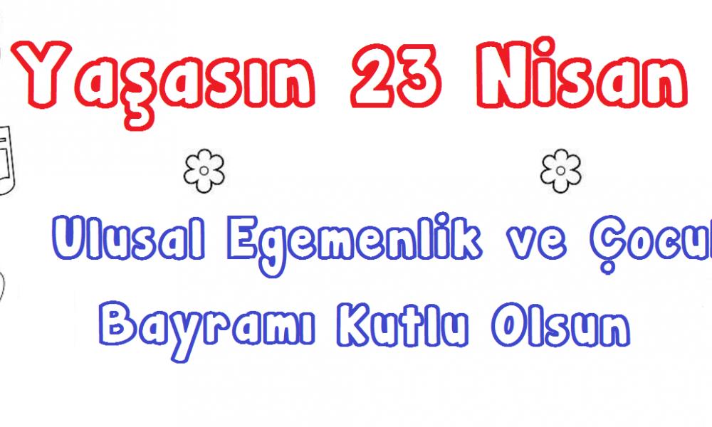23 Nisan Boyama Sayfalari Cocuklar Icin Boyama Cicicee