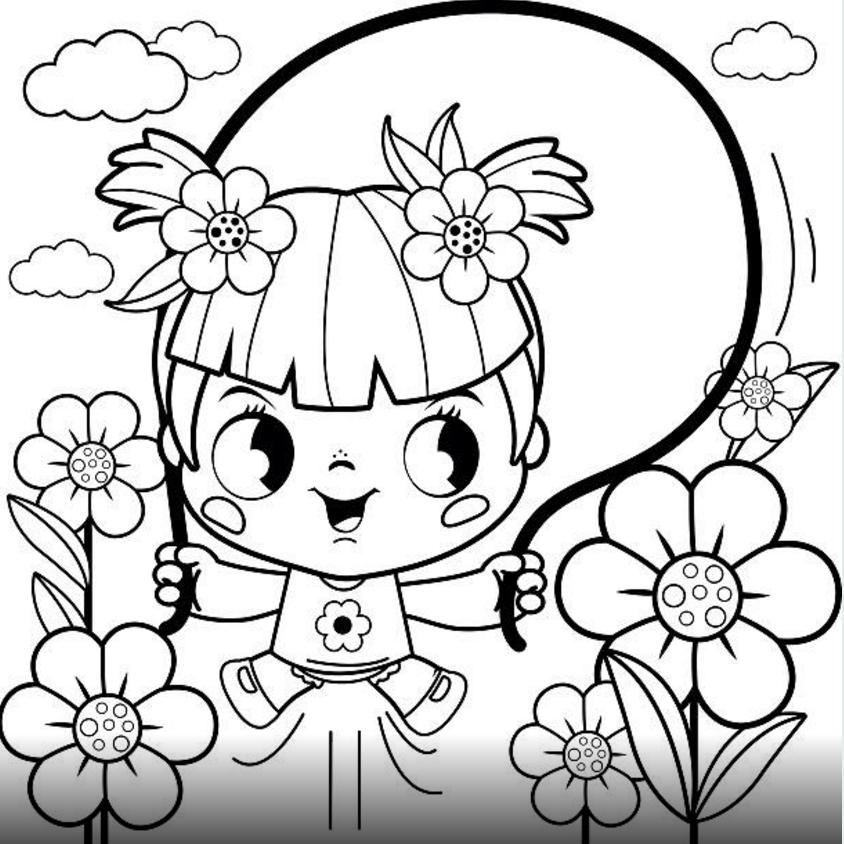 Bahçe Boyama Sayfası 23 Nisan Cicicee
