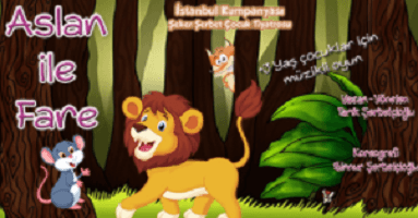aslan ile fare çocuk etkinlikleri