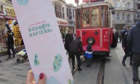 Çocuklar İçin Beyoğlu Haritası yayınlandı. Şehir Dedektifi İnisiyatifi tarafından yayınlanan harita, 5 yaş üzeri çocukları Beyoğlu'nu keşfetmeye çalışıyor.