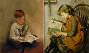 Kitap Okuyan Çocuk Resimleri
